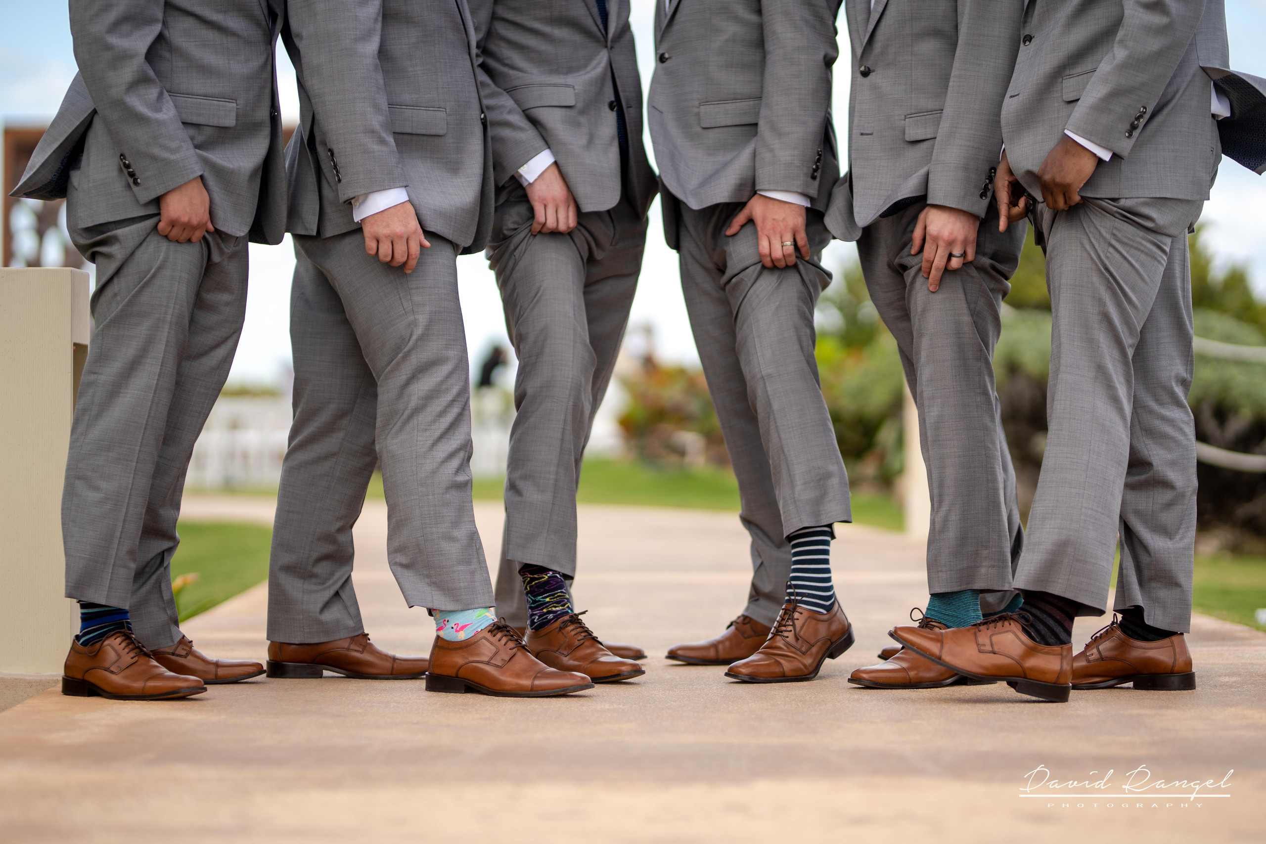 groomsmen+happy+suit+gazebo+photo+shoes