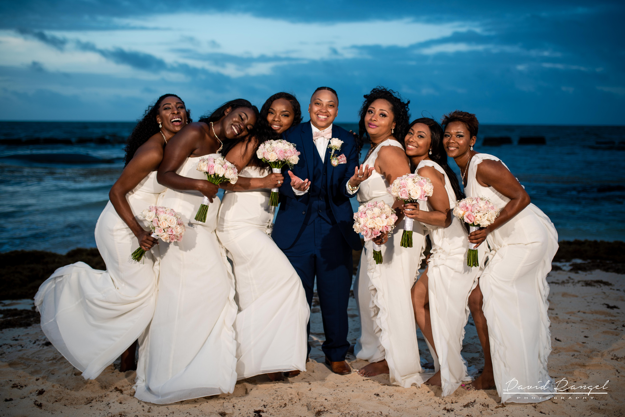 brides+maids+beach+session+photo