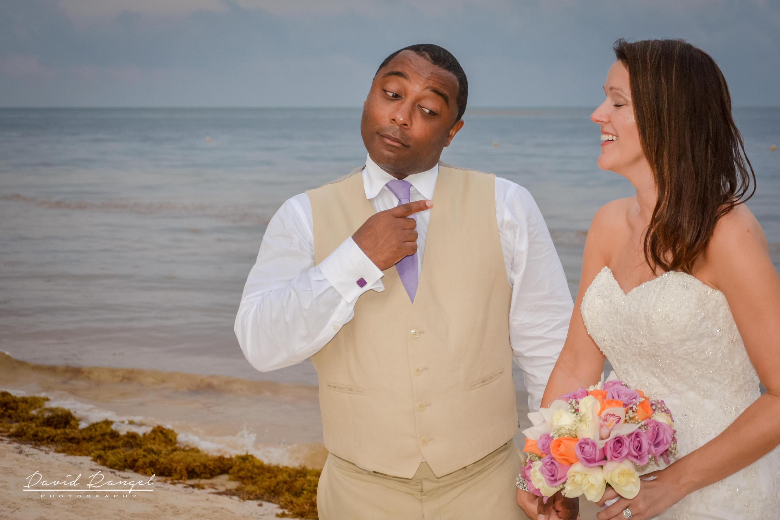 bride and groom shooting