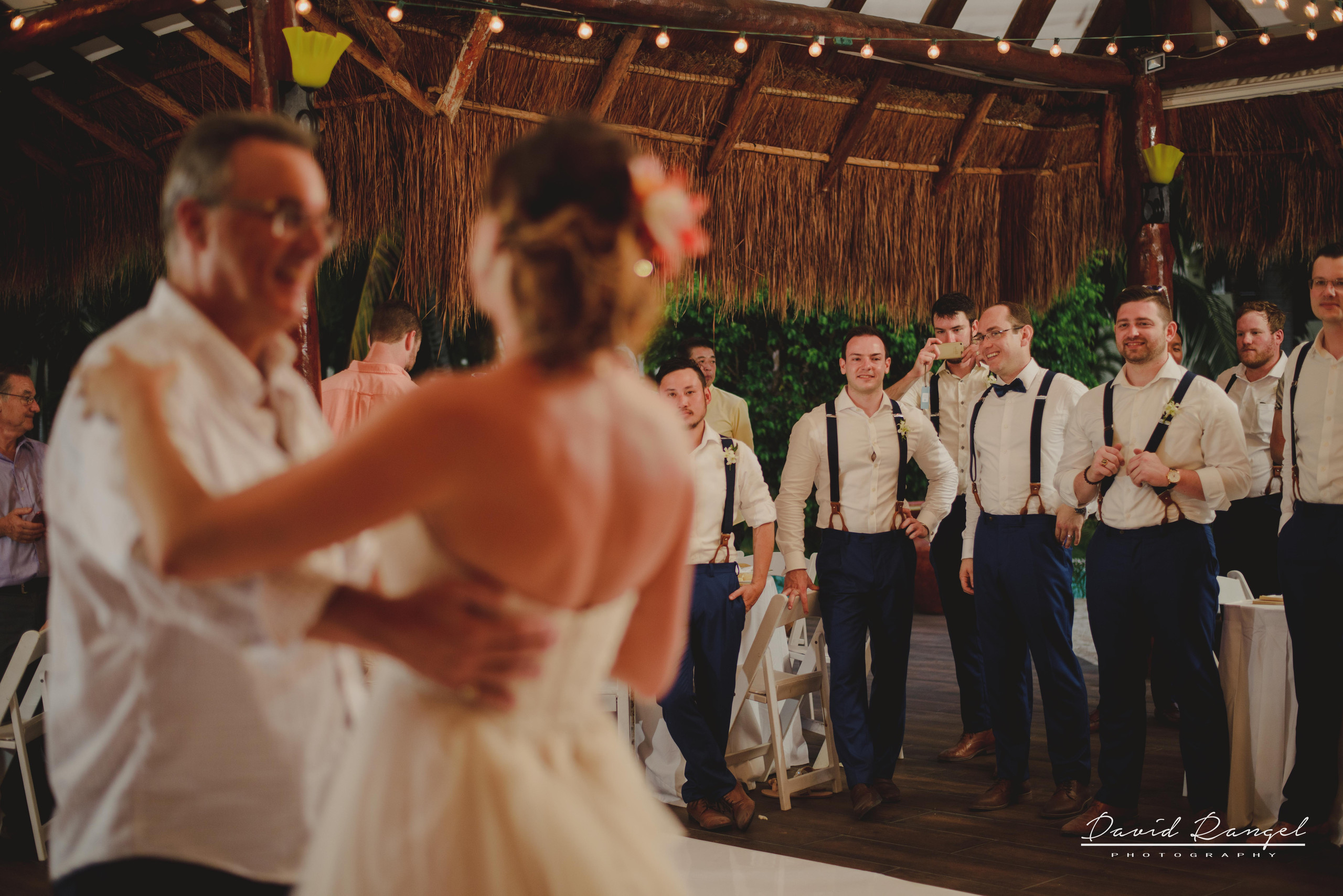 bridal+party+first+dance+reception+bride+father+floor