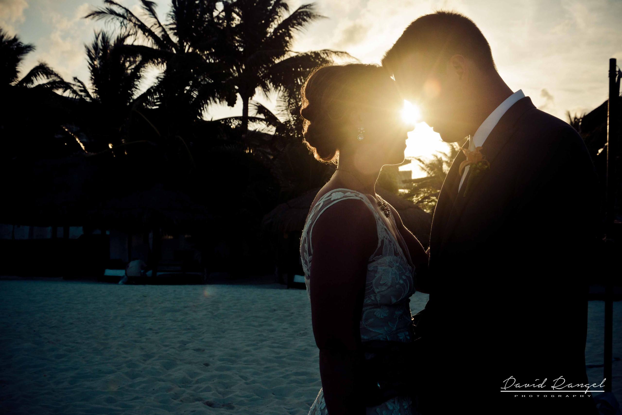 boda en el atardecer
