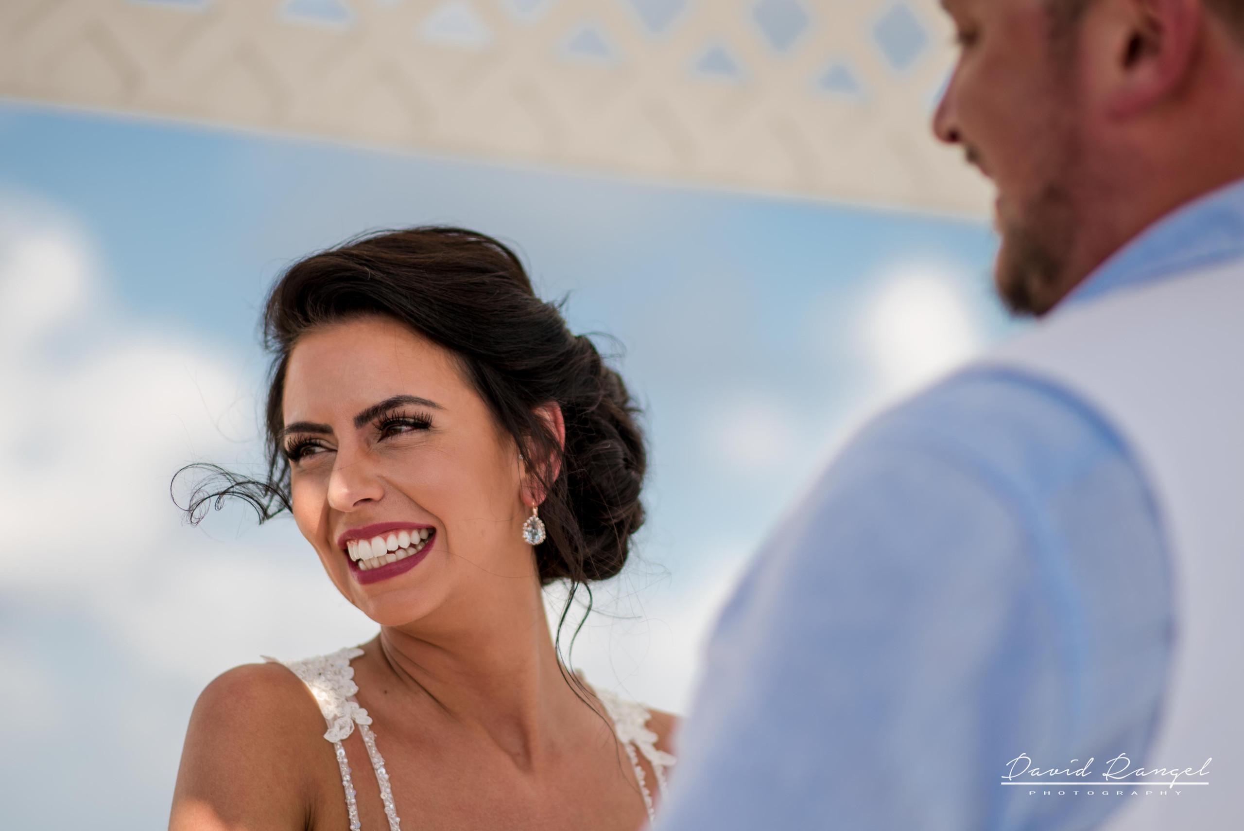 bride+groom+sky+deck+terrace+azul+beach+resort+photo+ceremony+gazebo+laughing+nervous