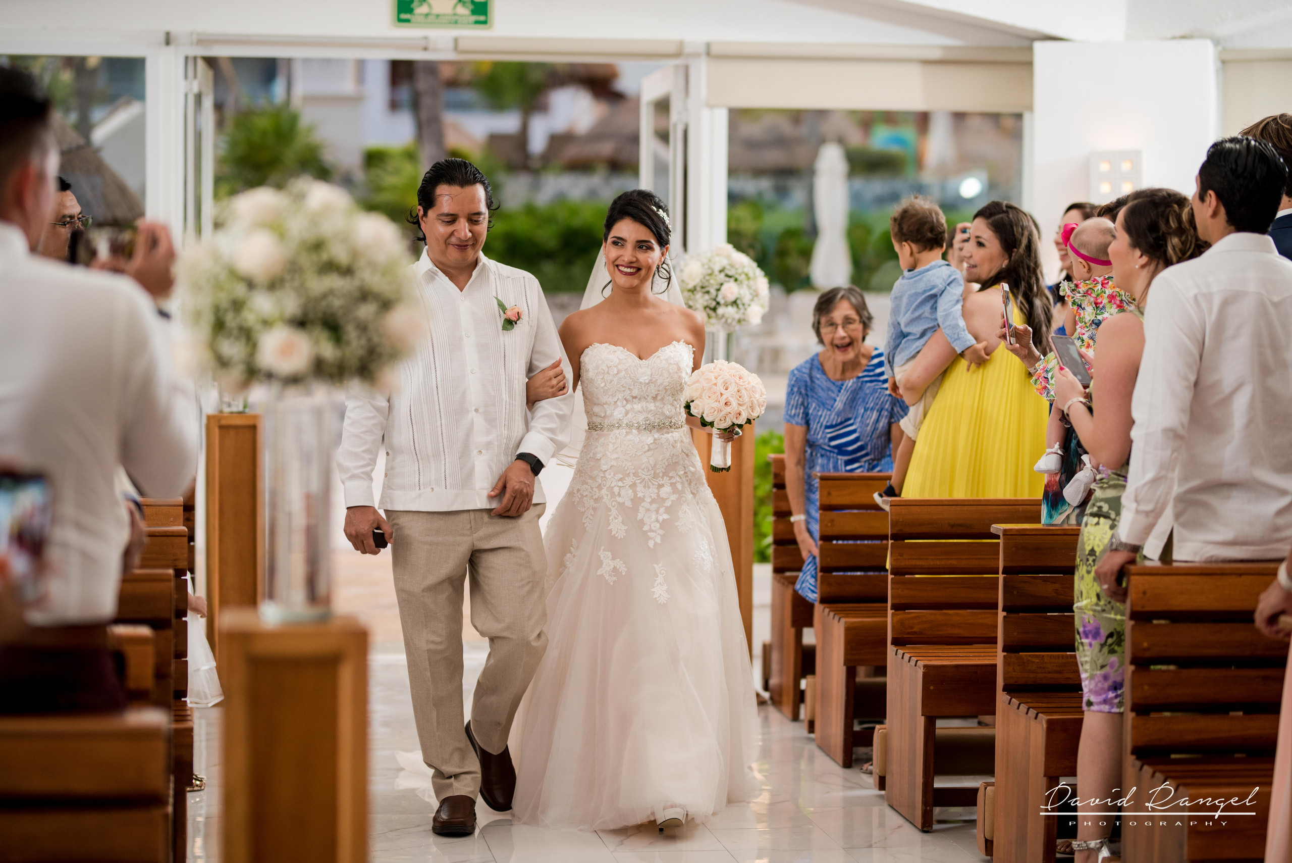 bride+brother+walking+aisle