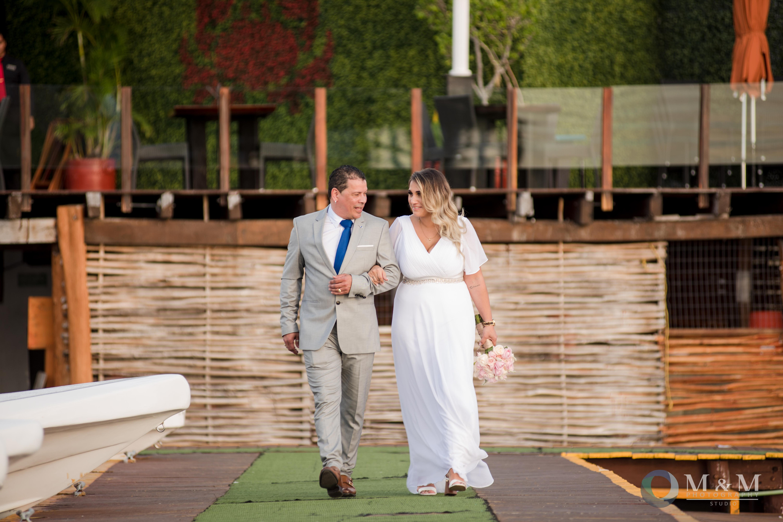 bride+father+pier+aisle