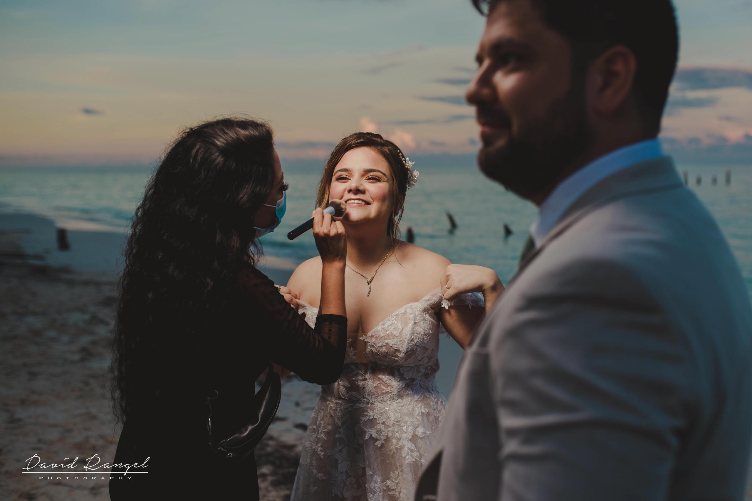 bride+groom+beach+sunset+session+happy+love+couple+celebration+wedding+makeup