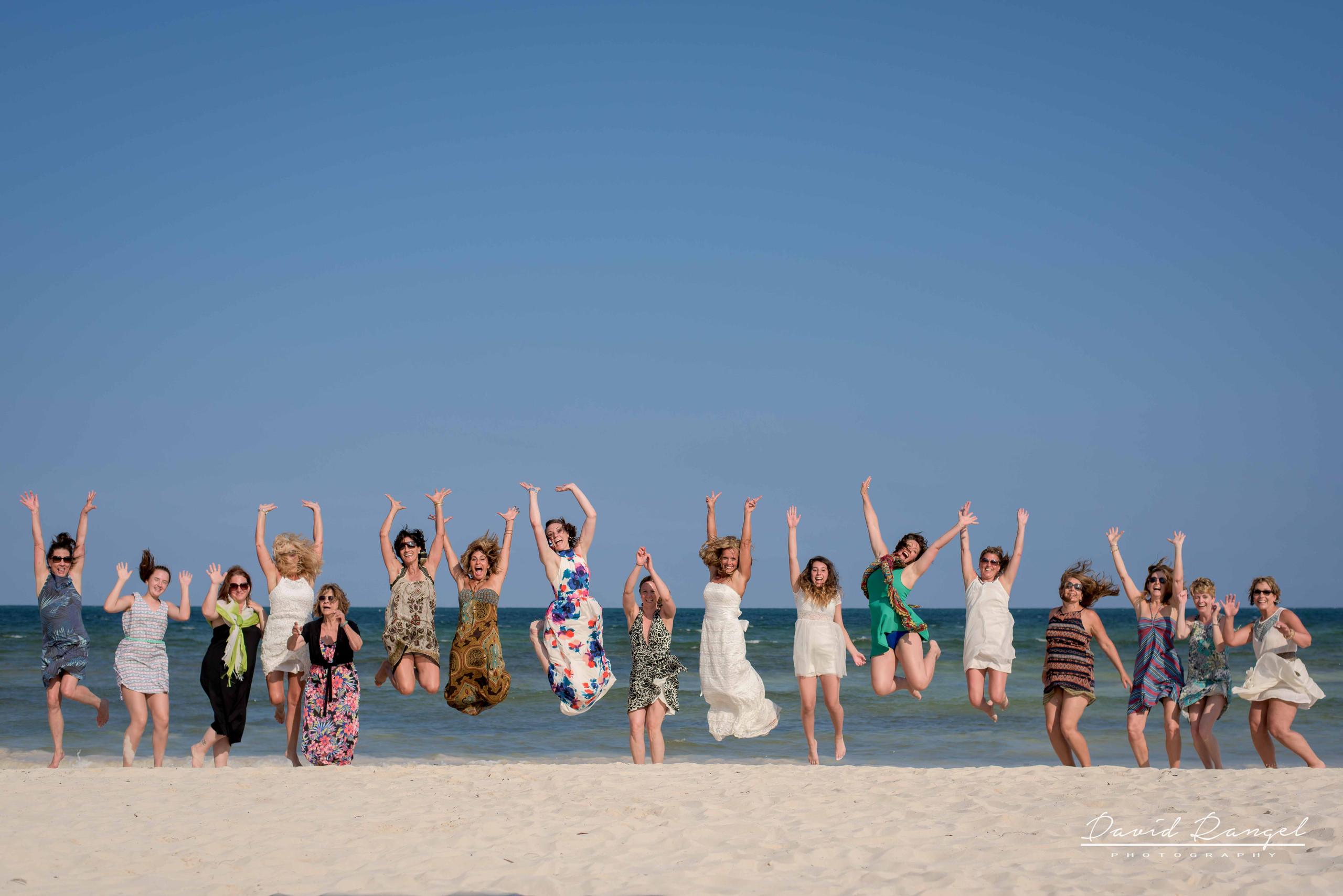 brides jump