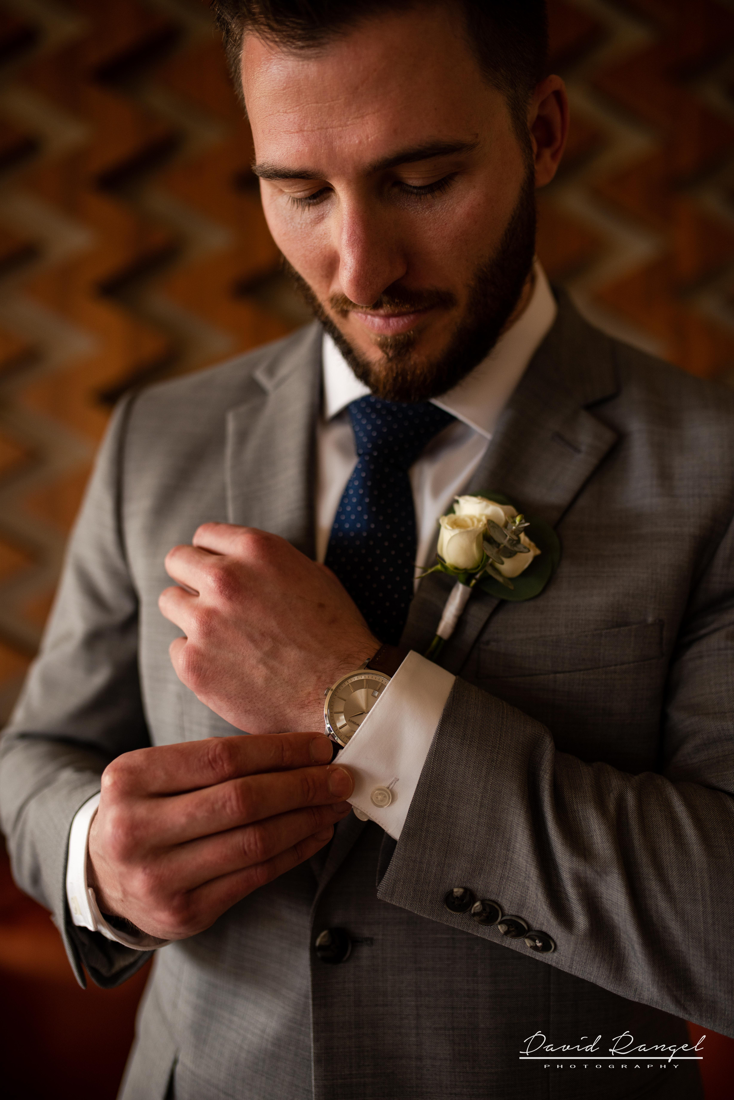 groom+suit+flower+watch+getting+ready