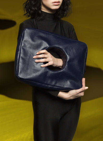 Hole Bag in Midnight Blue by Sophie Holterman