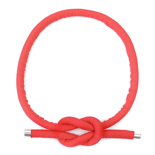Necklace Neck Knot in Coral red by Sophie Holterman