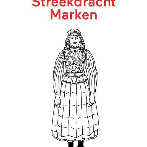 Kleurplaat Aankleedpop Streekdracht Marken – A4