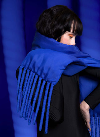 Fat Scarf in Yves Blue by Sophie Holterman