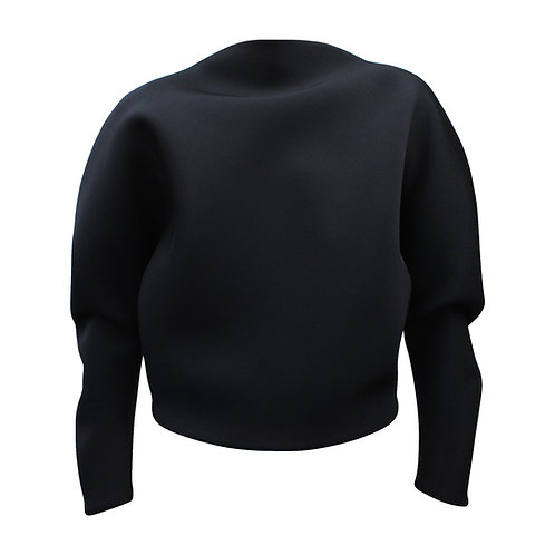 Circle Sweater Ink Black Front View by Sophie Holterman