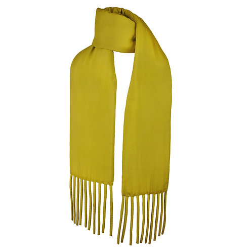 Wrapped Fat Scarf in Olive Yellow by Sophie Holterman