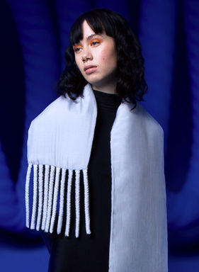 Fat Scarf in Powder Blue by Sophie Holterman