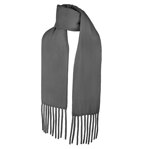Wrapped Fat Scarf in Charcoal Grey by Sophie Holterman