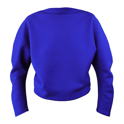 Circle Sweater Yves Blue Front View by Sophie Holterman