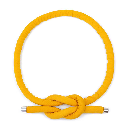 Necklace Neck Knot in Sunflower yellow by Sophie Holterman