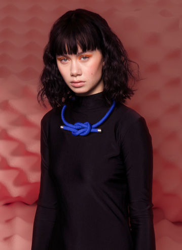 Neck Knot in Yves Blue by Sophie Holterman
