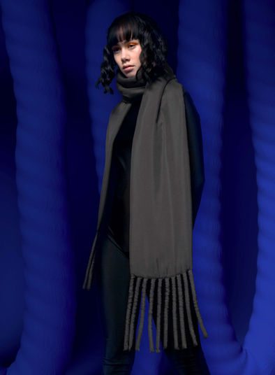 Fat Scarf in Charcoal Grey by Sophie Holterman