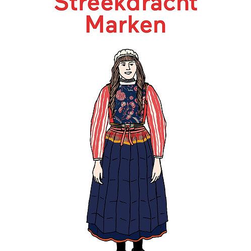 Aankleedpop Streekdracht Marken in kleur – A4