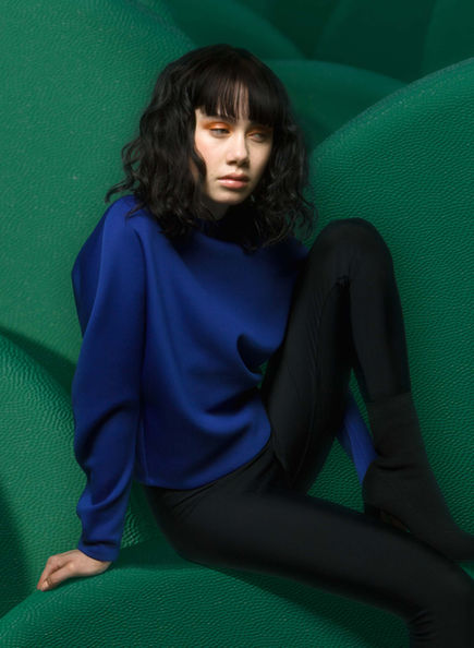 Circle Sweater in Yves Blue by Sophie Holterman