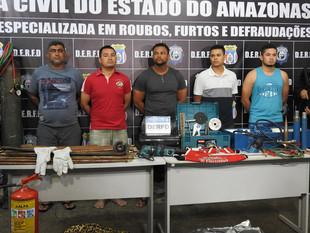 Suspeitos de roubar R$ 66 mil de estaleiro são presos no AM