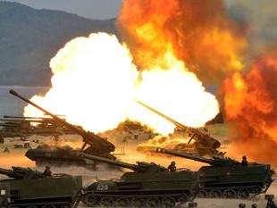 Imagens mostram exercício de artilharia realizado pela Coreia do Norte