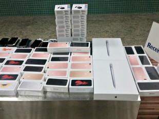Mais de 100 IPhones são apreendidos com passageiro em aeroporto no AM