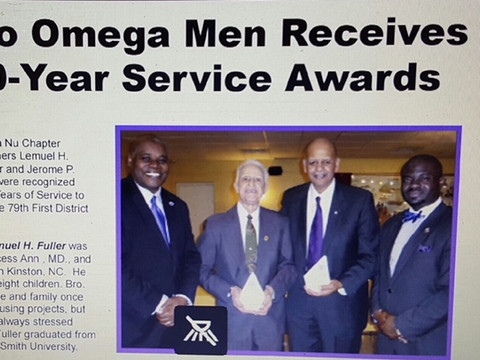 Omegas Honored for 50 Years of Service