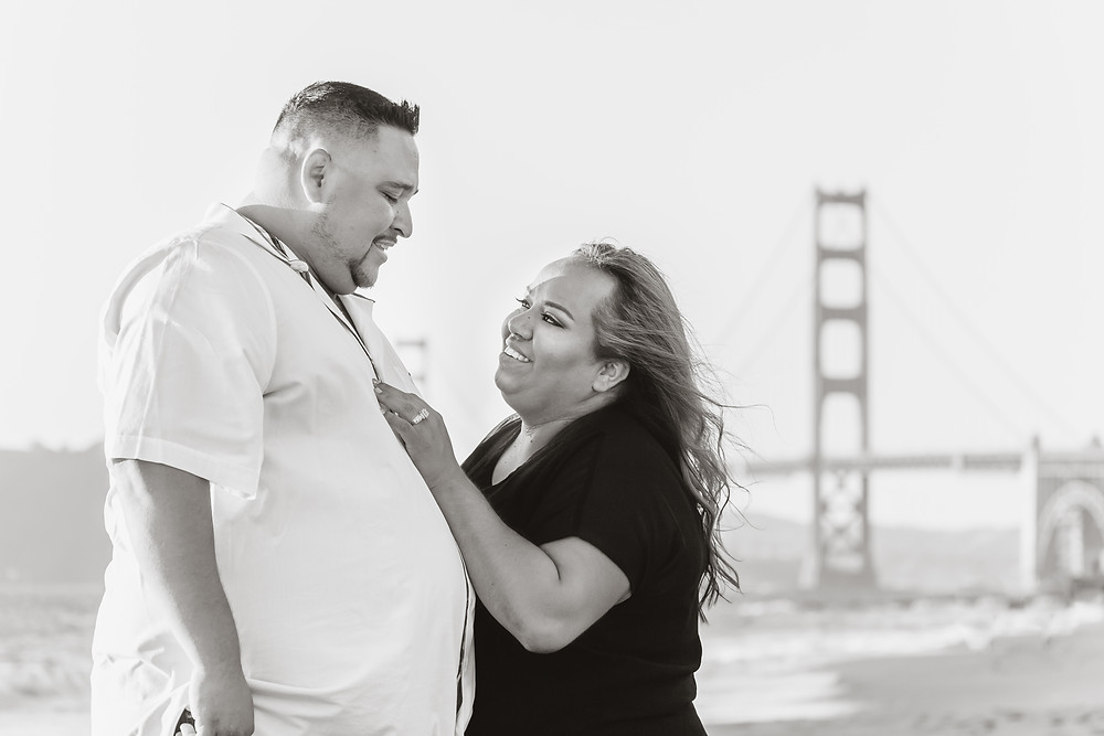 San Francisco Baker Beach Engagement Photos