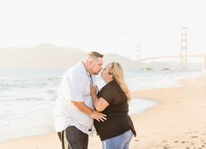 SNEAK PEEK | BAKER BEACH SAN FRANCISCO CA | DANELLE + FRANKY ENGAGEMENT