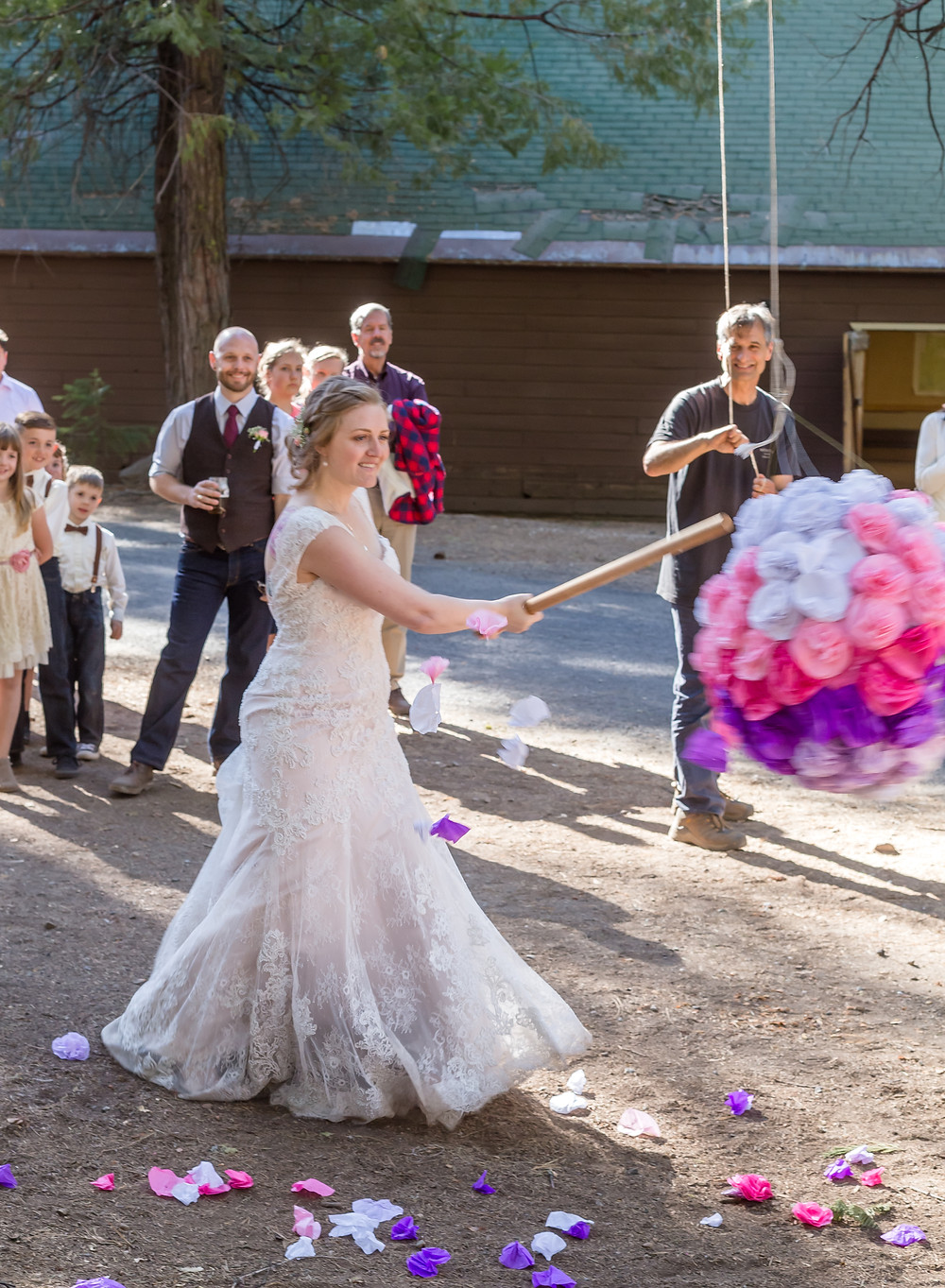 Bride & wedding piñata