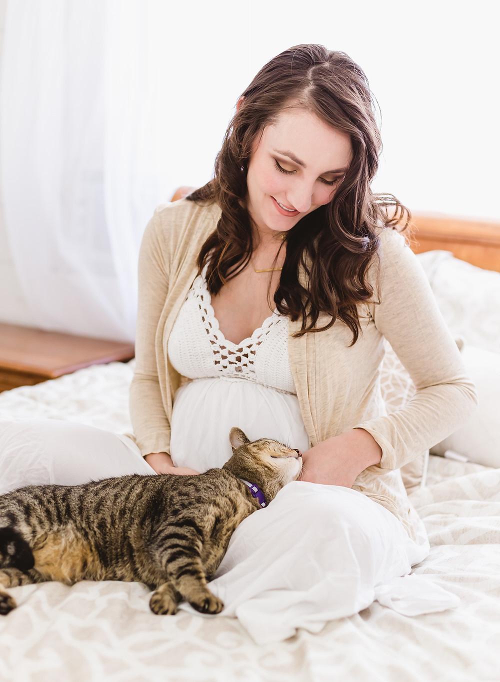 pet maternity photos