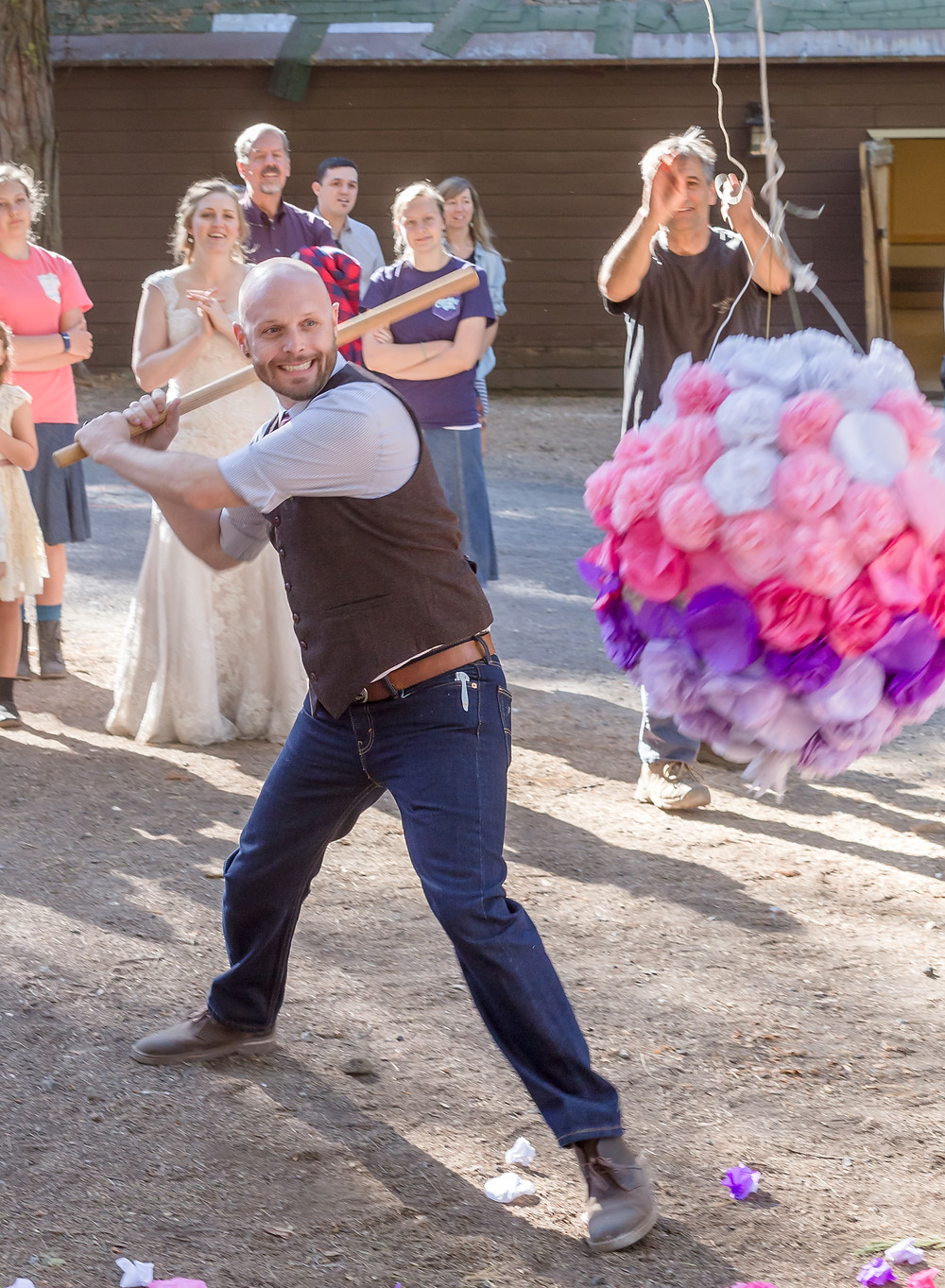 Groom & wedding piñata