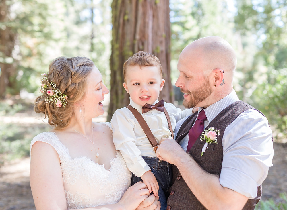 Bride & Groom with ring bearer