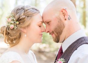 HAYLEY + PAUL | WEDDING IN THE PINES   (wedding piñata!!!)