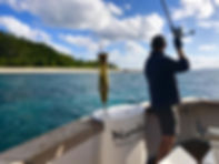 Popper Fishing in Vanuatu on Nambas Fishing Charters
