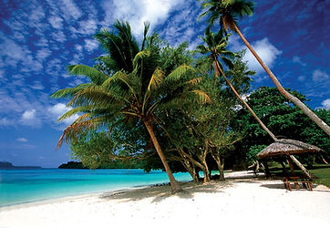 Island scenery whilst Fishing in Vanuatu
