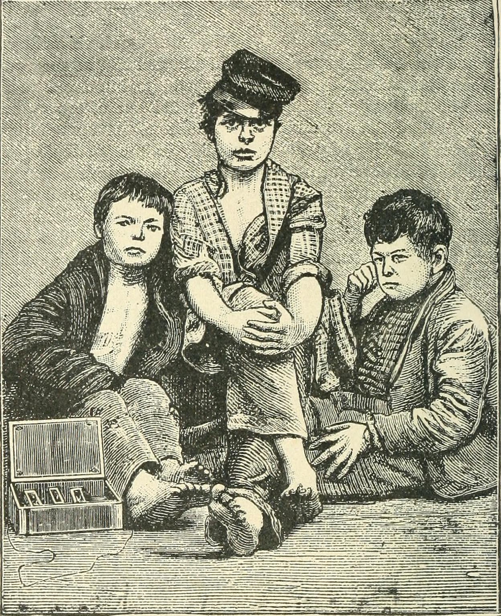 Needham, George C. Street Arabs and Gutter Snipes. Boston: D. L. Guernsey, 1884. Page 98.