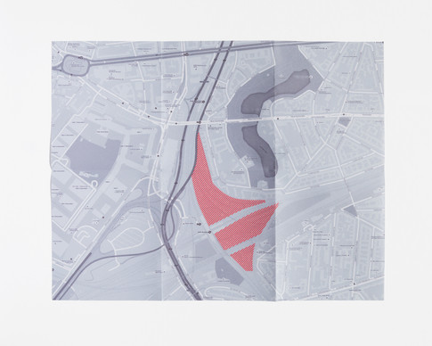 map of garden close to highways