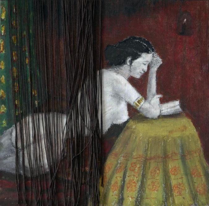 Lectrice derrière un rideau (2015)