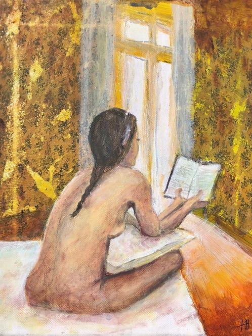 La lectrice de la chambre jaune