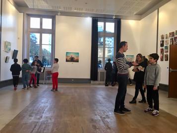 Rencontre avec des scolaires Expositions Matrice / Terre happy - Chateau de Villemomble (93) - 2019
