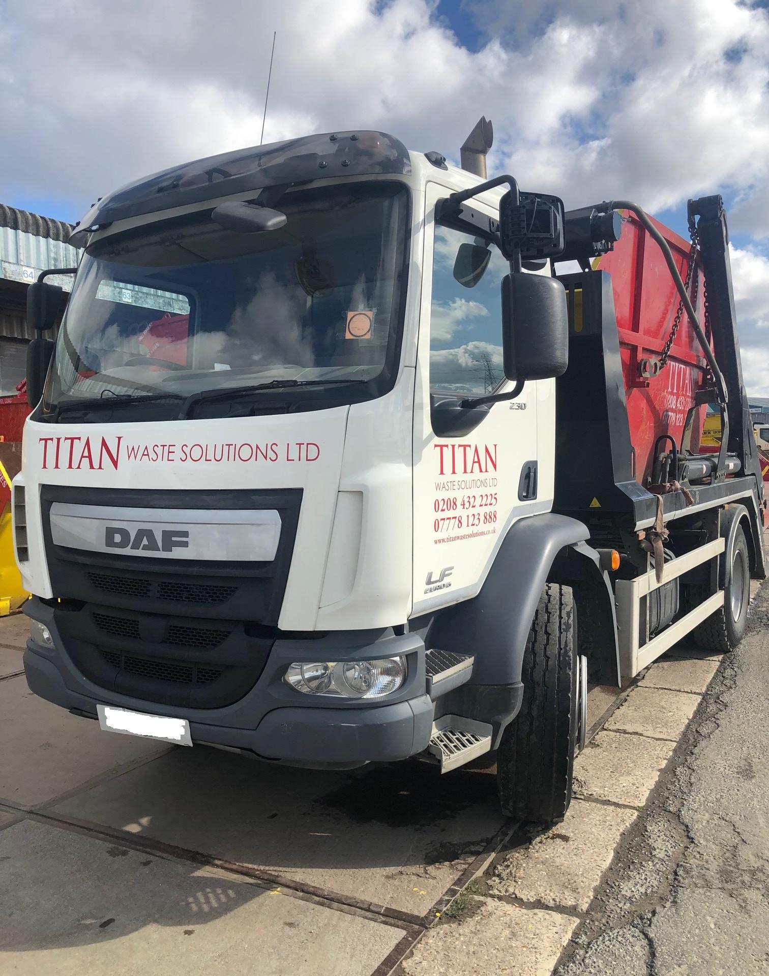 Titan Skip Lorry