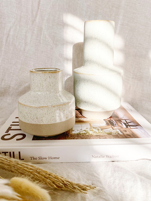 Speckled Stoneware Vases