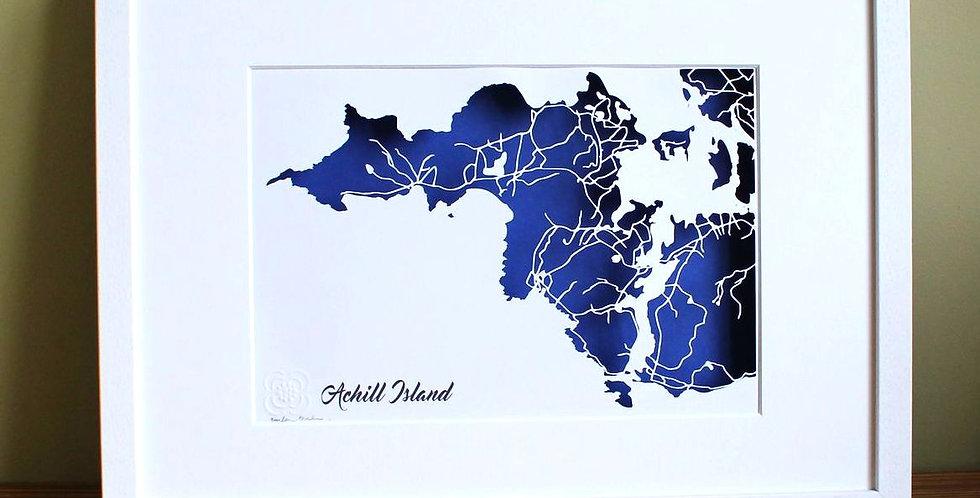 papercut map of Achill