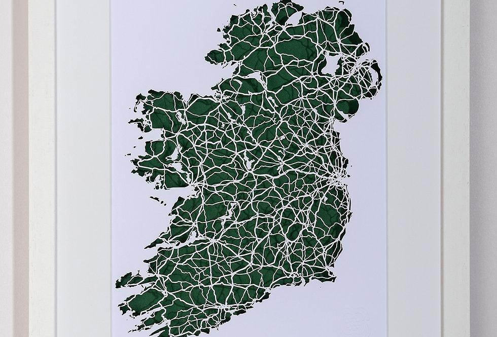 Ireland laser cut map
