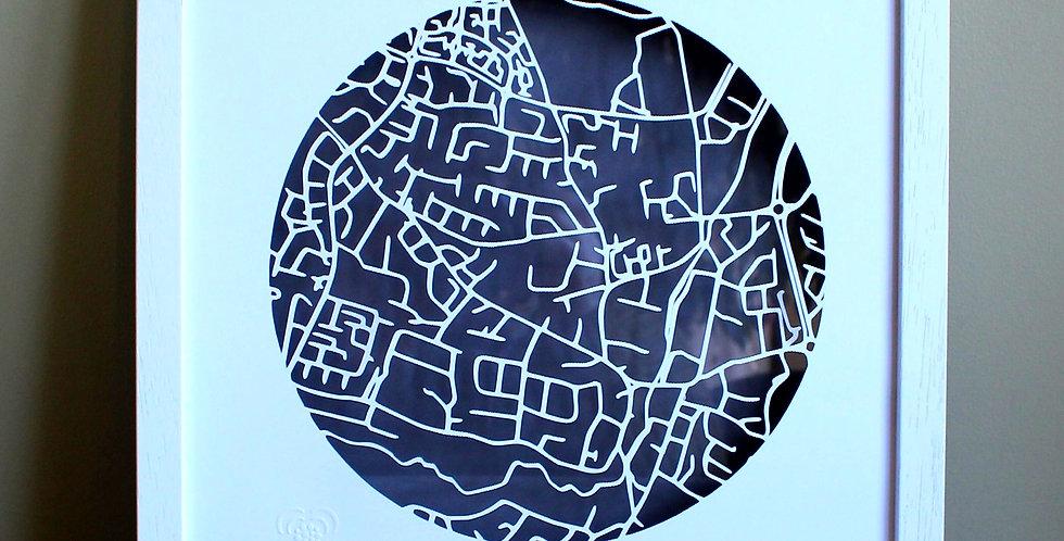 Swords papercut map