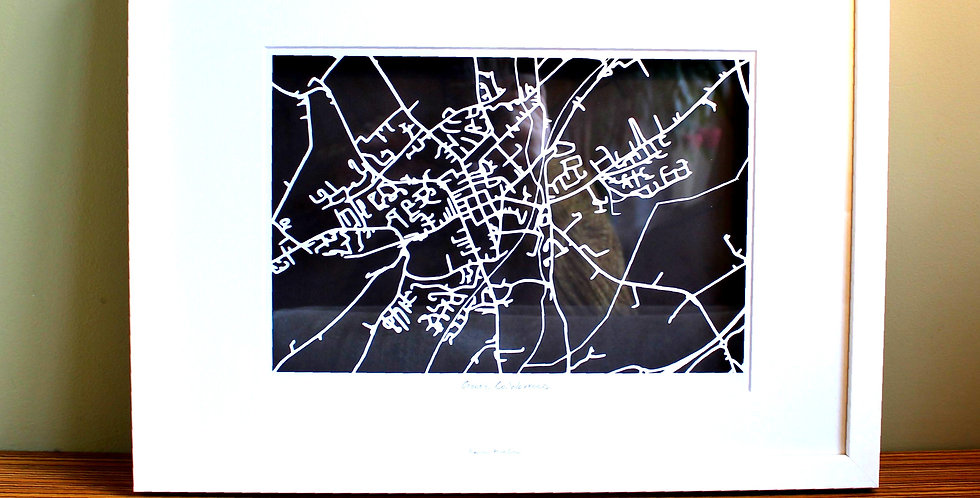 Gorey papercut map