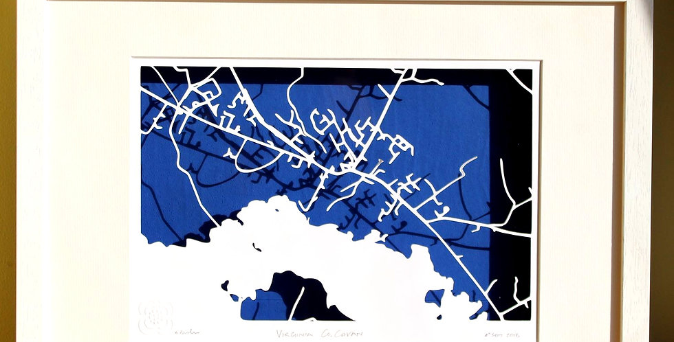Virginia, Co Cavan papercut map